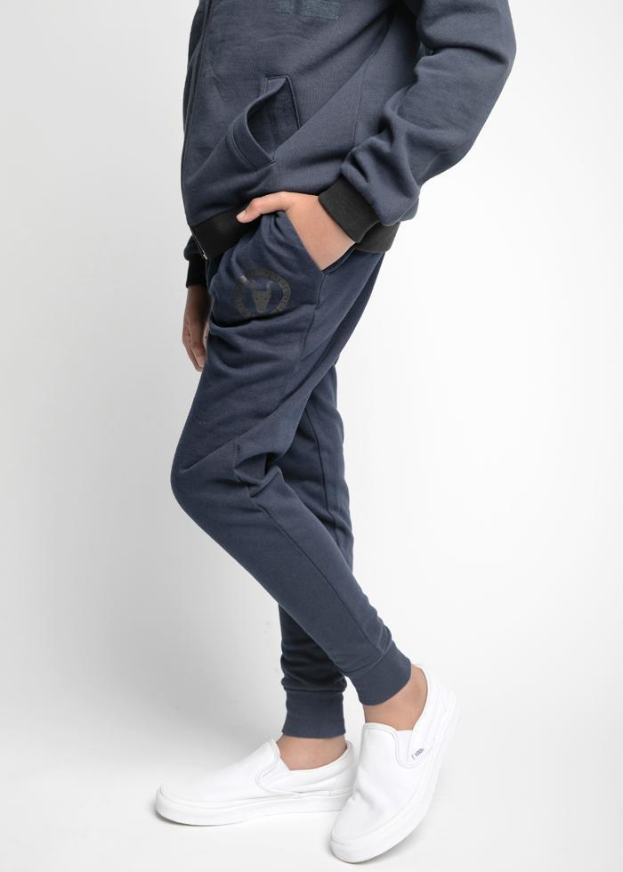 Youth Boys Navy Joggers With Logo