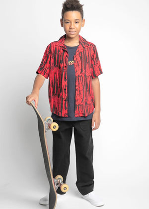 Youth Boys Red Rocker Shirt - SUSTAINABLE FABRIC