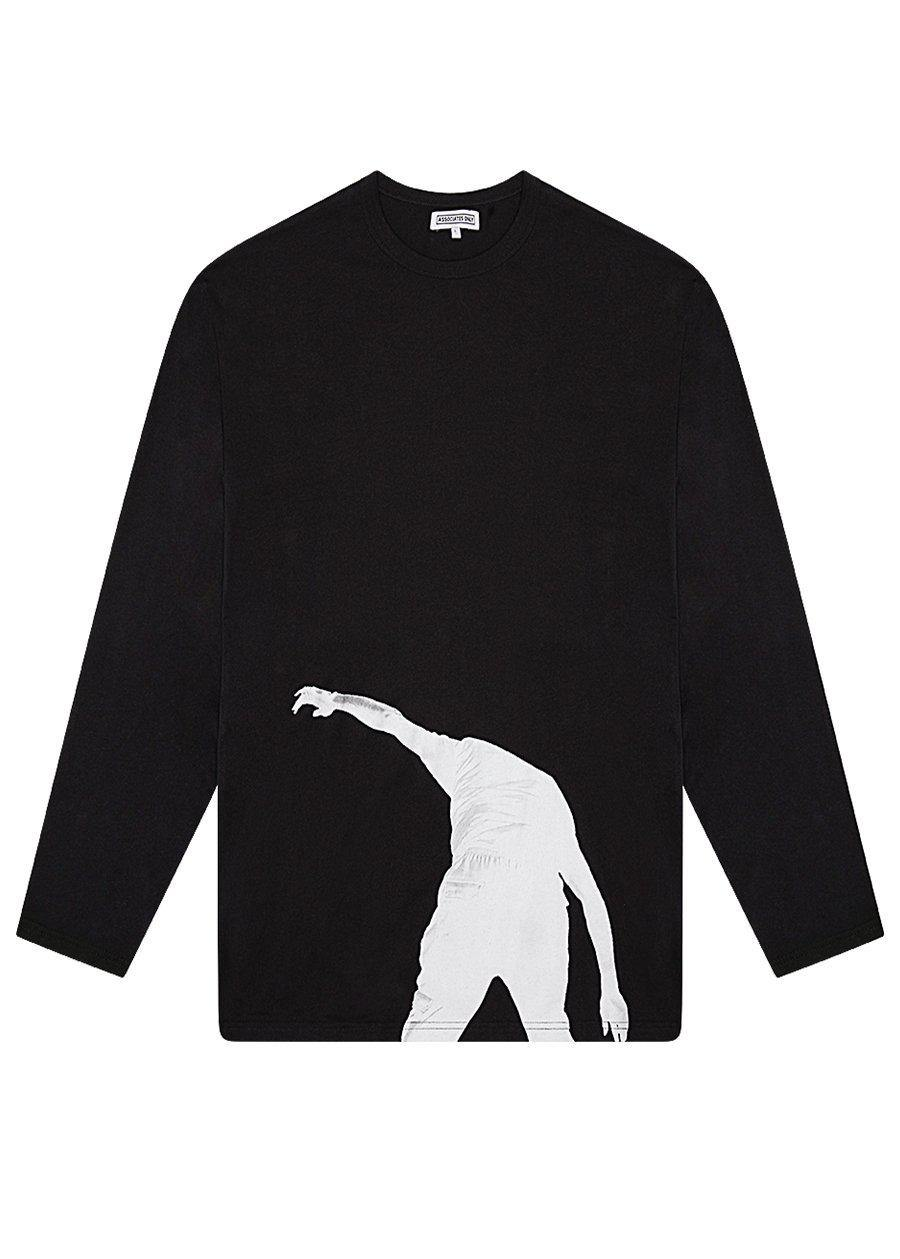 Black Long Sleeve Print T-shirt