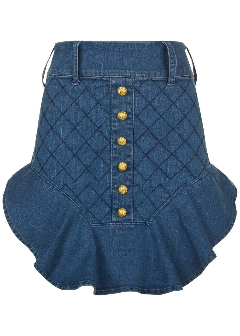 Girls Blue Denim Miniskirt