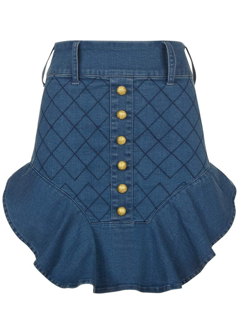 Youth Girls Fancy Denim Skirt