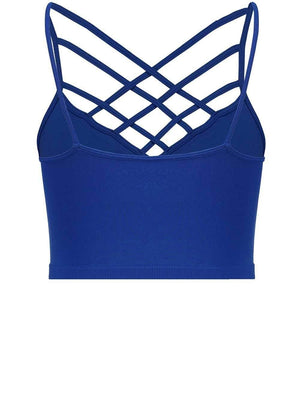Suzette Blue Spider Cage Sports Bra