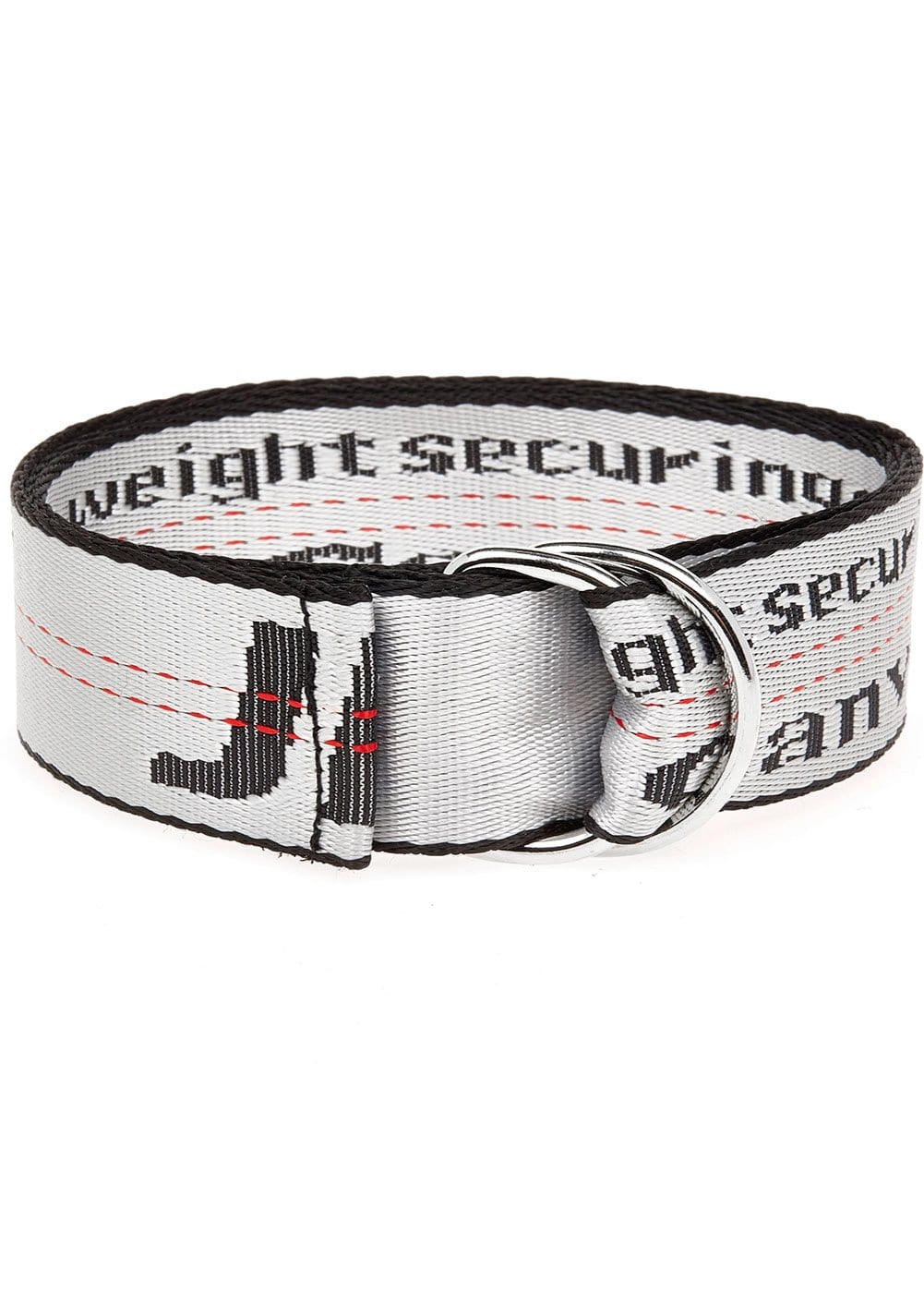 Silver white Tape Belt - Folded