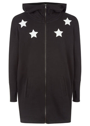 TeenzShop Youth Boys Longline Hoodie with Stars