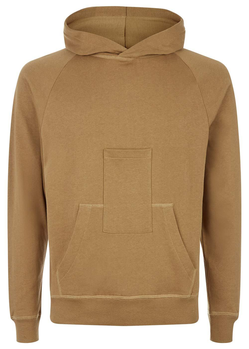 Boys Camel Hoodie With Phone Pocket - Front