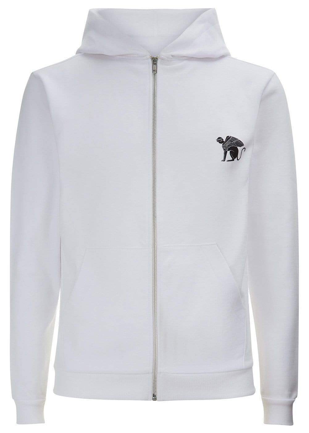 Boys White Zip-Up Toro Hoodie - Front