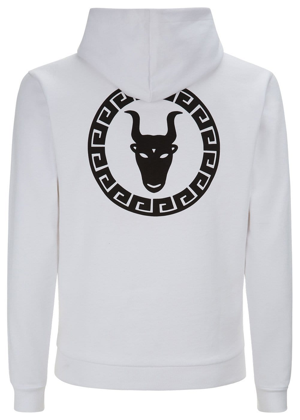 Boys White Zip-Up Toro Hoodie - Back