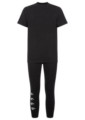Youth Boys Black Pyjama Lounge Set-TeenzShop
