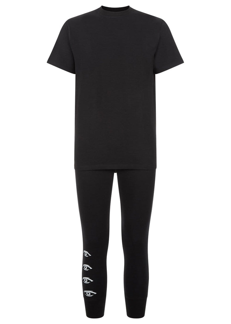 Youth Boys Black Pyjama Lounge Set