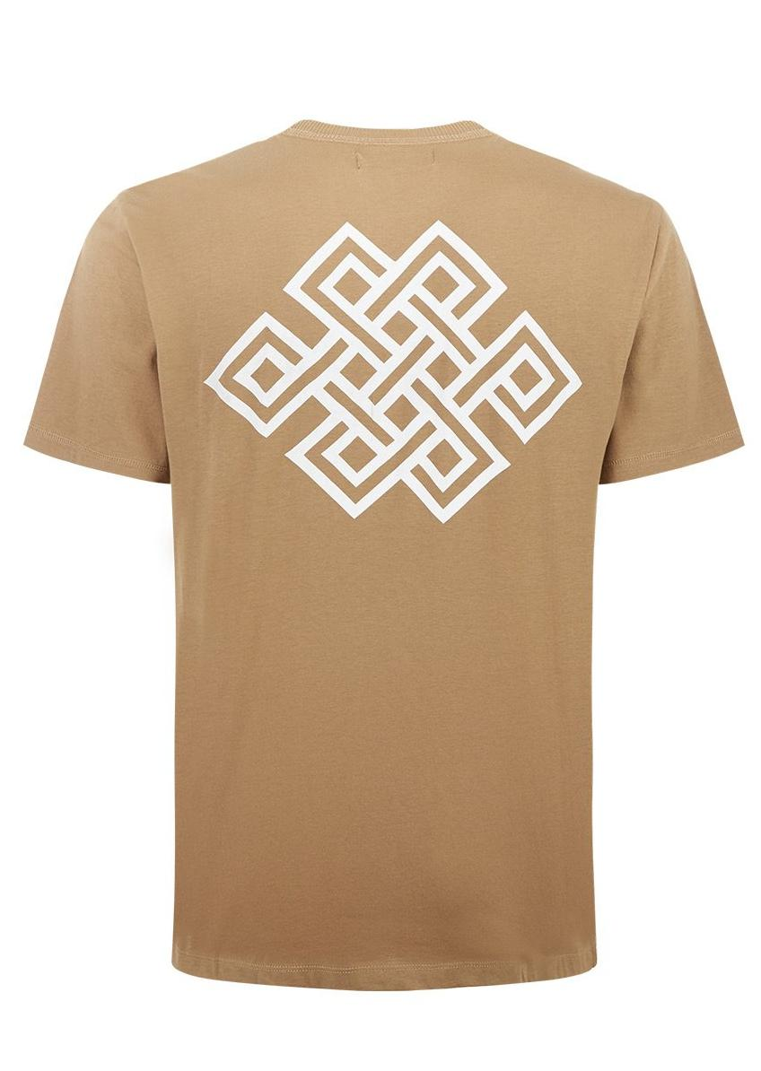 Boys Brown Eternal Knot Graphic T-shirt - Back