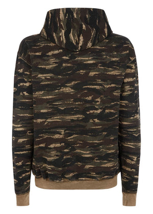 TeenzShop Youth Boys Brown Distressed Camo Hoodie