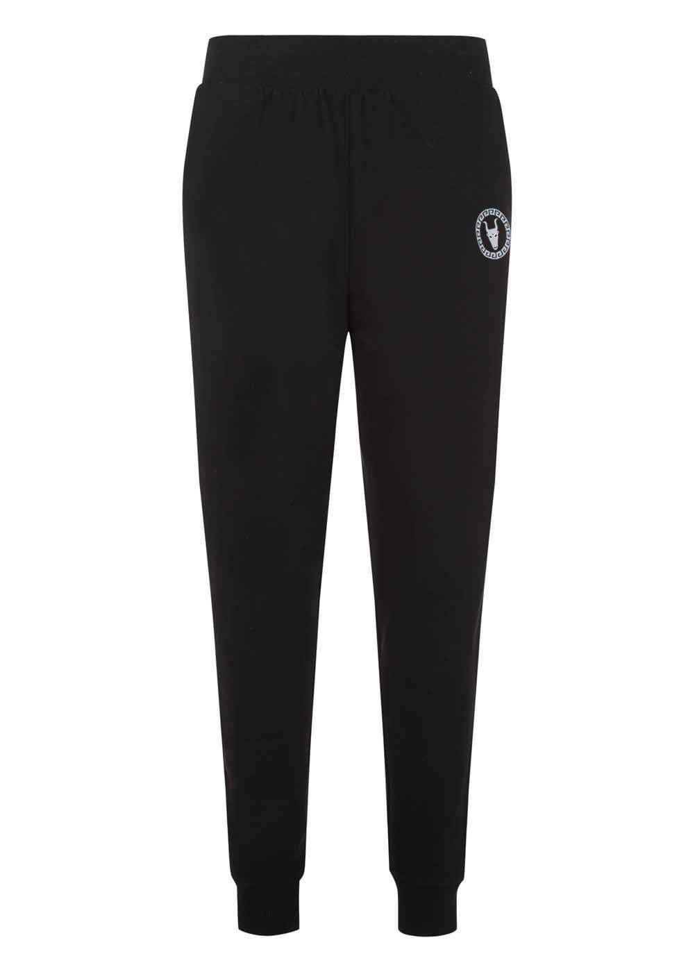 Boys Black Joggers With Logo - Front