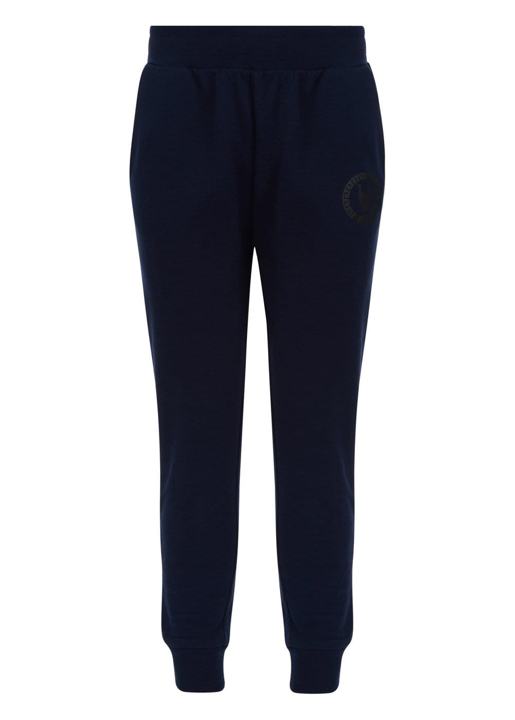 Boys Navy Joggers With Logo-front