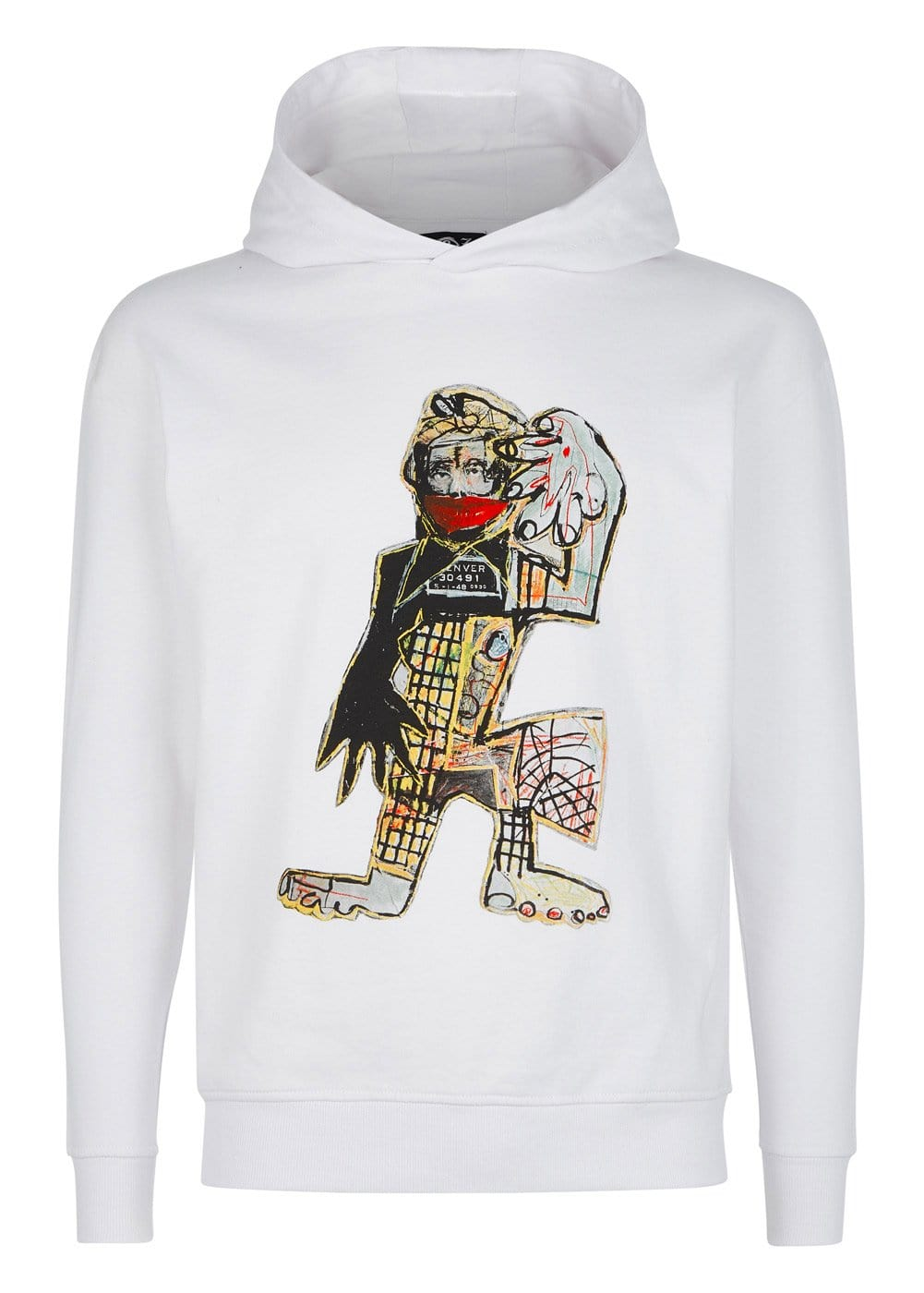 Boys White David King Reuben Collab Hoodie - Front