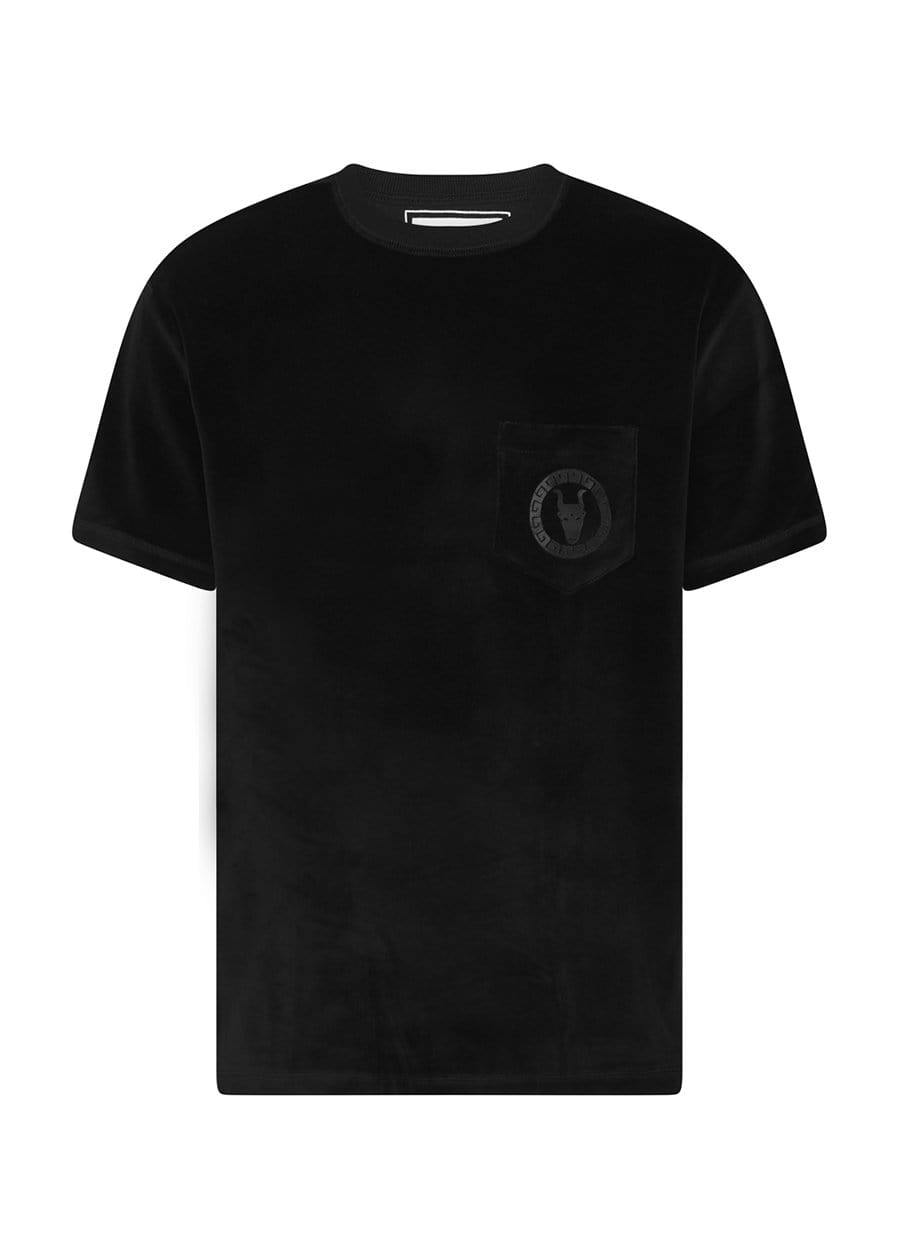 Youth Boys Black Velour Toro Logo T-shirt