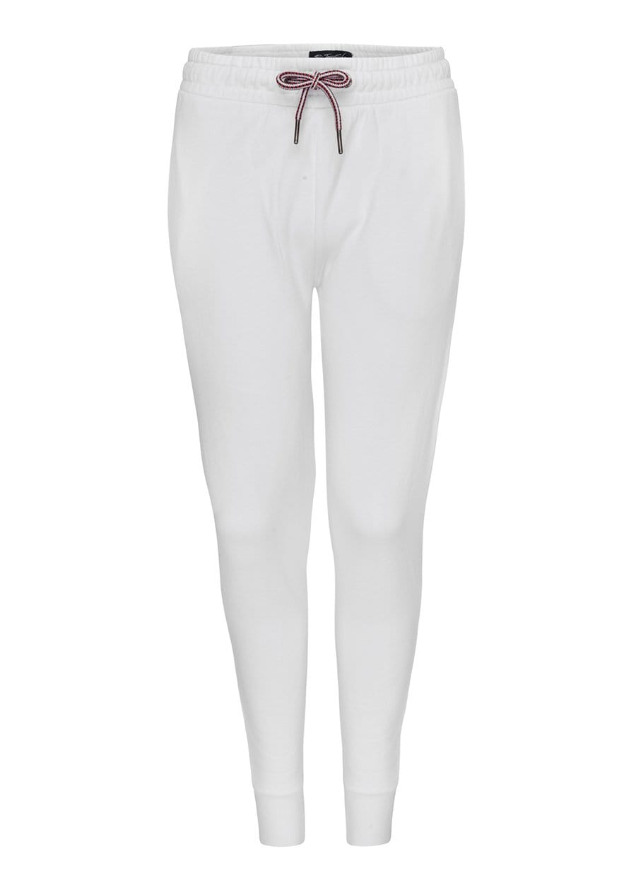 Youth Boys White Barcode Joggers
