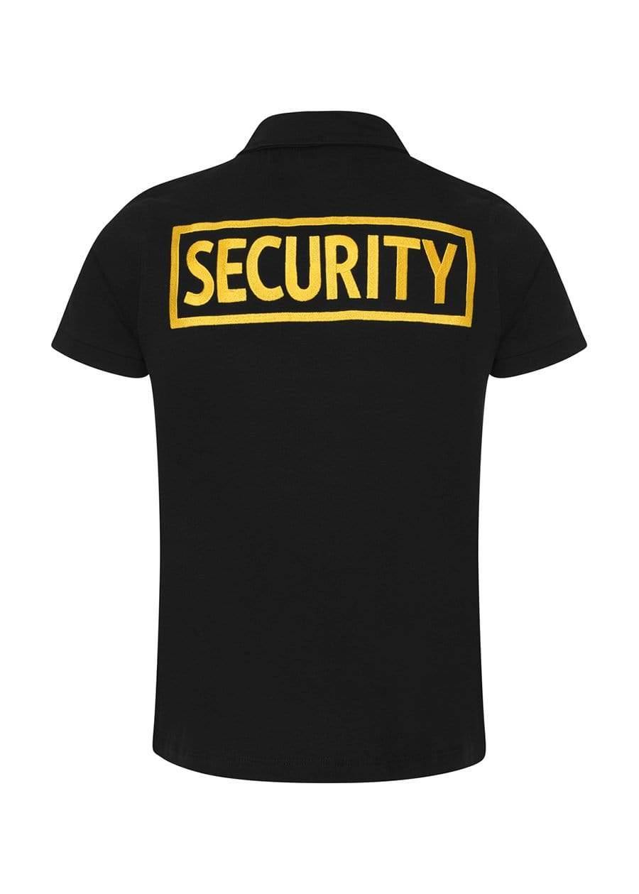 Youth Boys Black and Yellow Short Sleeve Security Polo Shirt