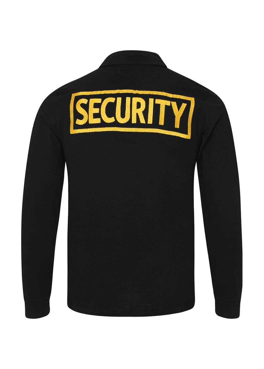 Youth Boys Black and Yellow Long-Sleeve Security Polo Shirt