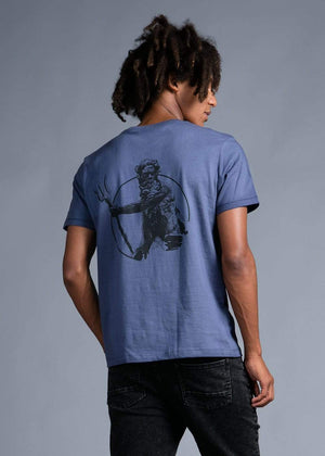 Boys Sea Blue Neptune Graphic T-shirt-TeenzShop