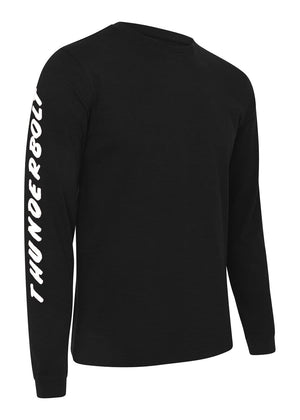 TeenzShop Youth Boys Long Sleeve Slogan T-Shirt Black