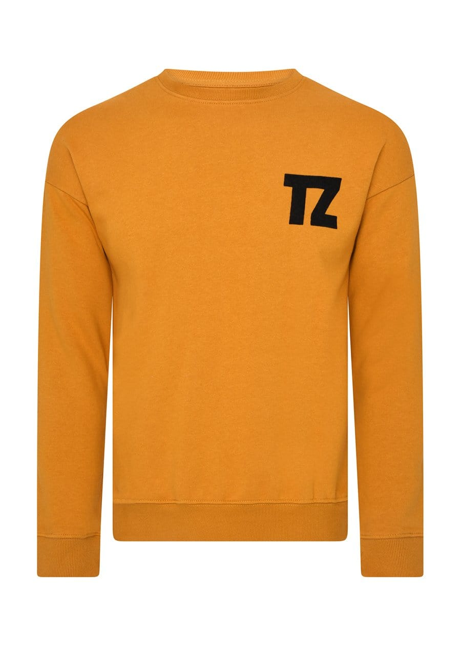 TeenzShop Youth Boys Mustard TZ Logo Flocked Sweatshirt