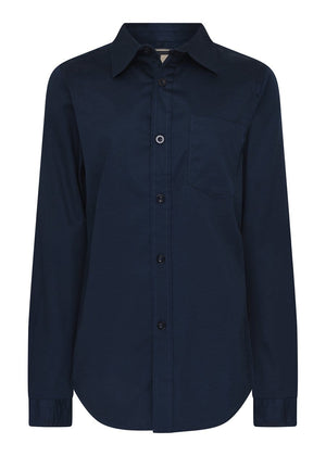 TeenzShop Youth Boys Long Sleeve Navy Evening Shirt- SUSTAINABLE FABRIC