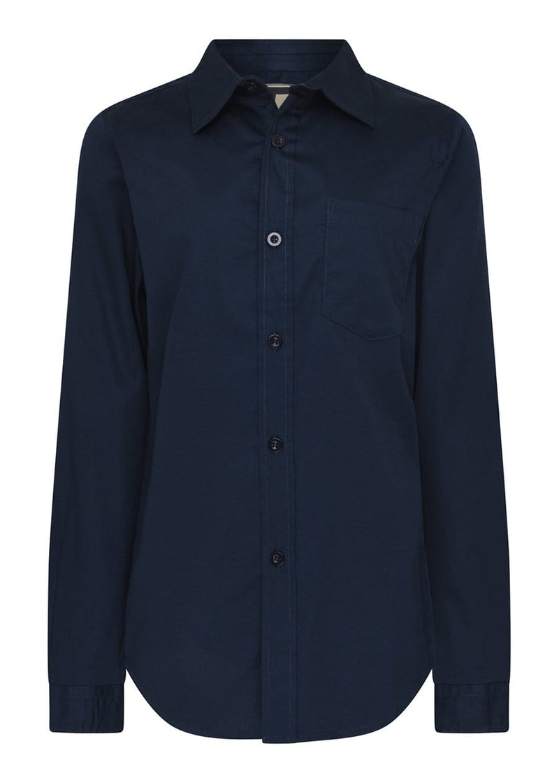 Youth Boys Long Sleeve Navy Evening Shirt- SUSTAINABLE FABRIC