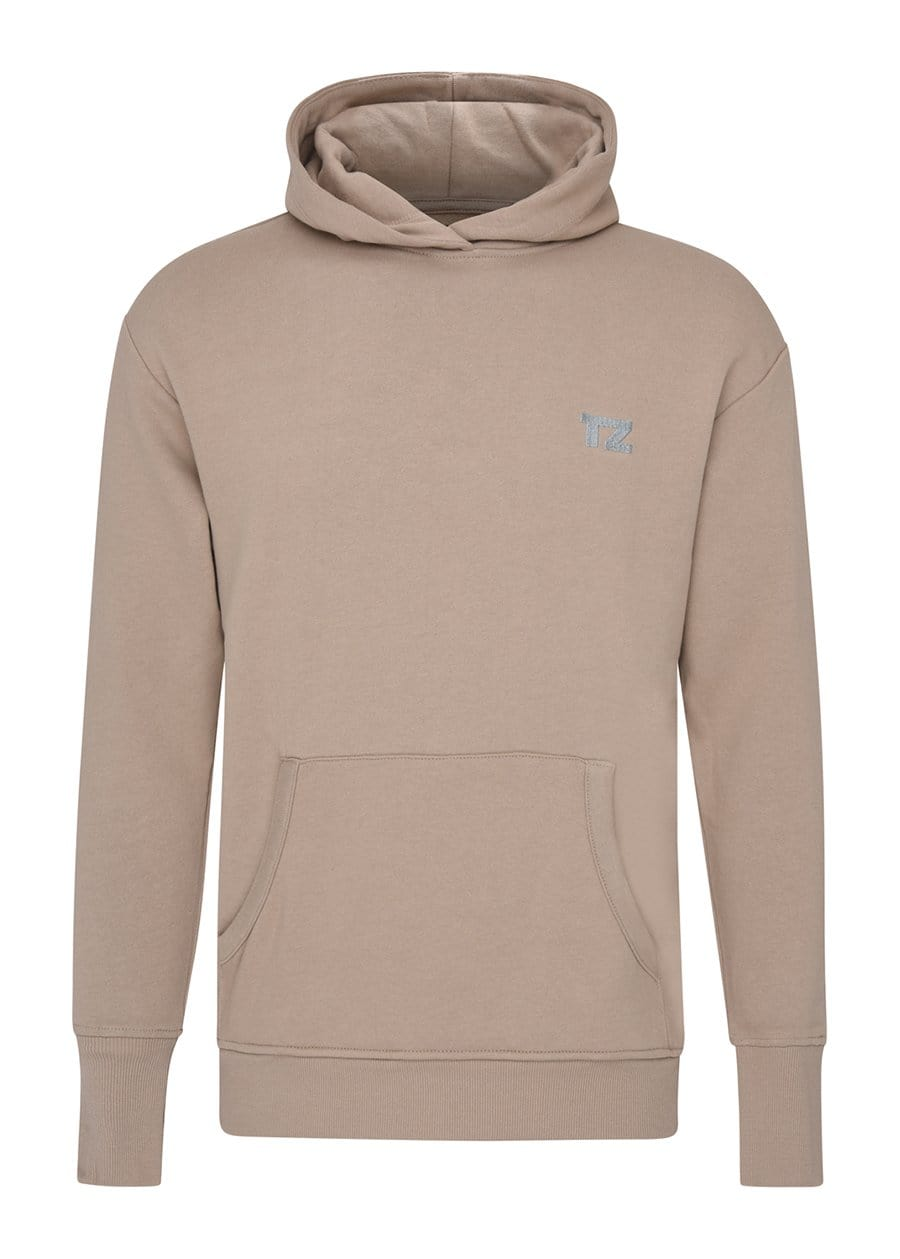 Youth Boys Taupe Embroidered logo Hoodie