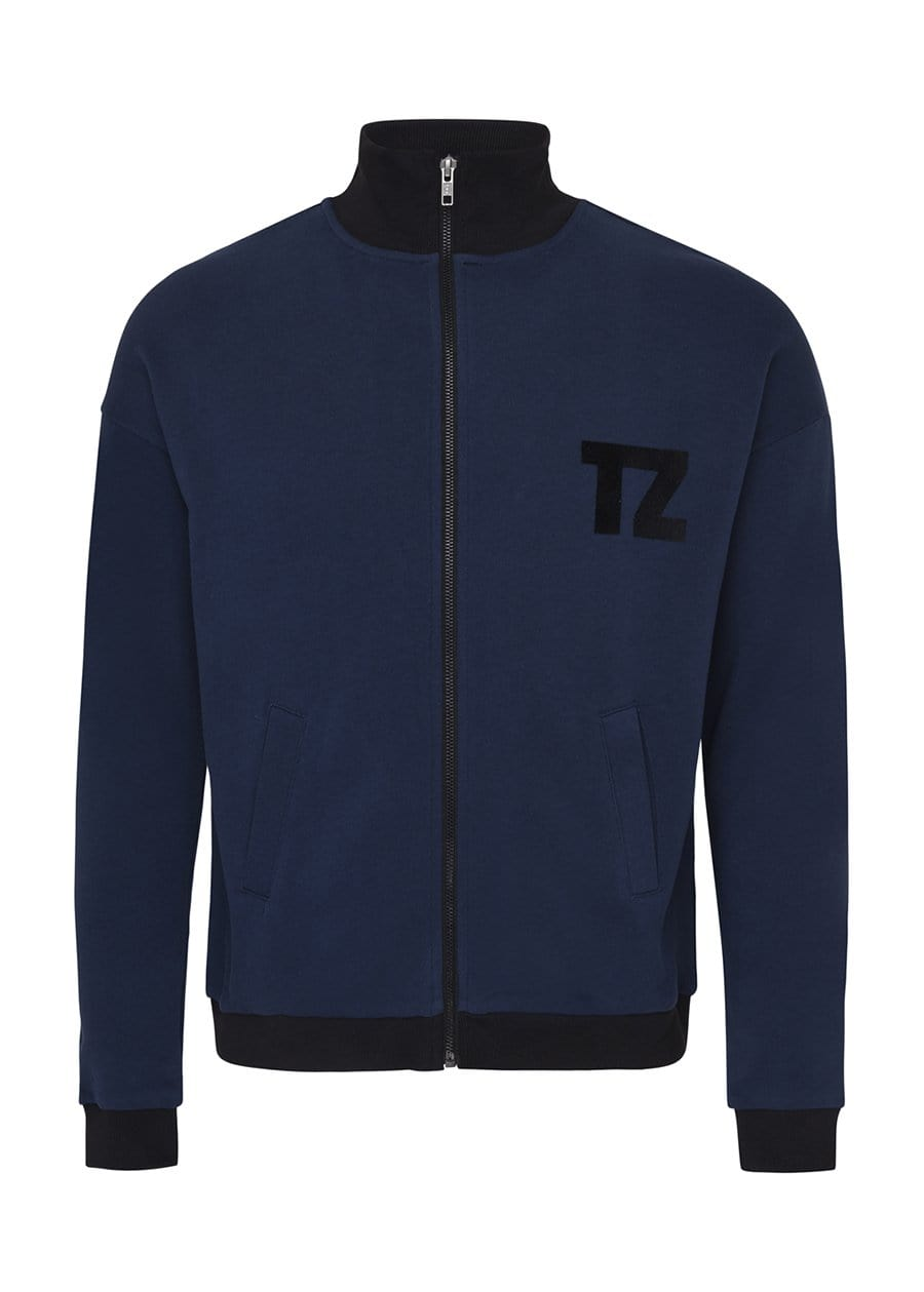 Youth Boys Navy Zip Up Cardigan