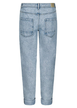 TeenzShop Youth Boys Cotton Light Blue Relaxed Fit Jeans