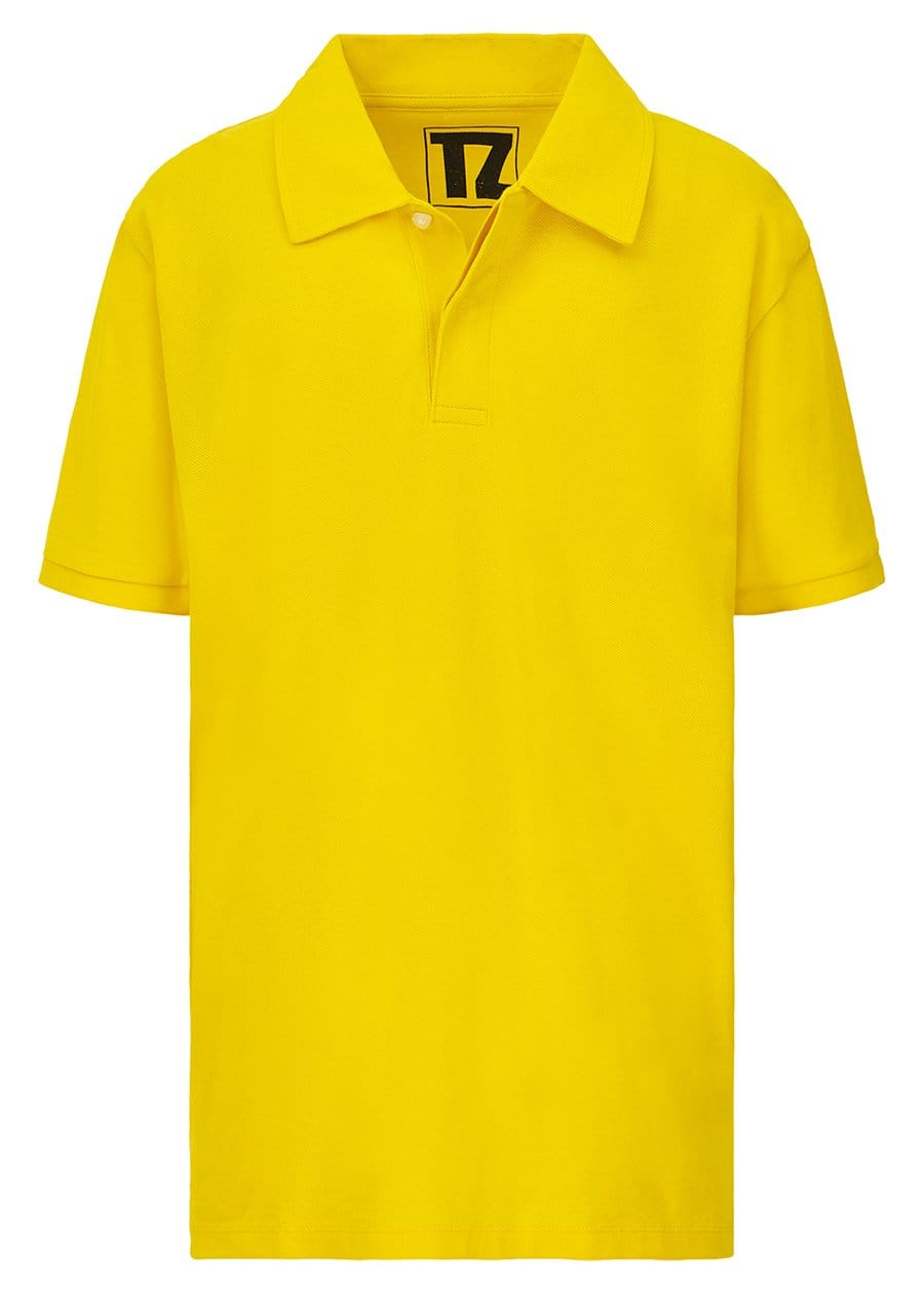 TeenzShop Youth Boys Yellow Short Sleeve Polo - SUSTAINABLE FABRIC
