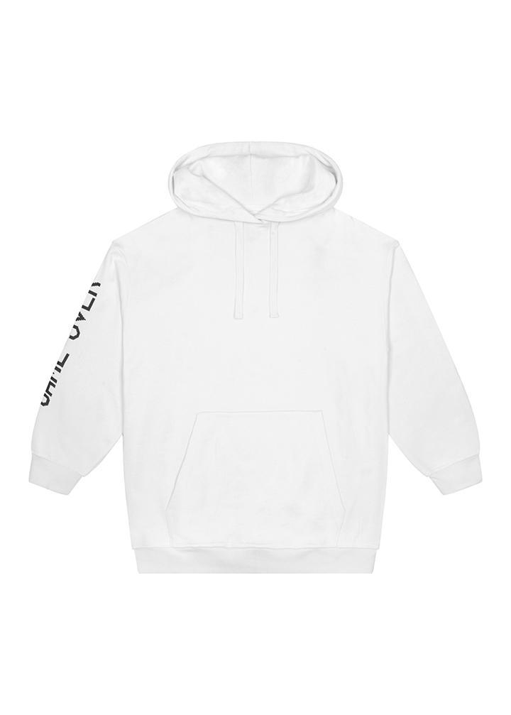 Boys White Game Over Hoodies