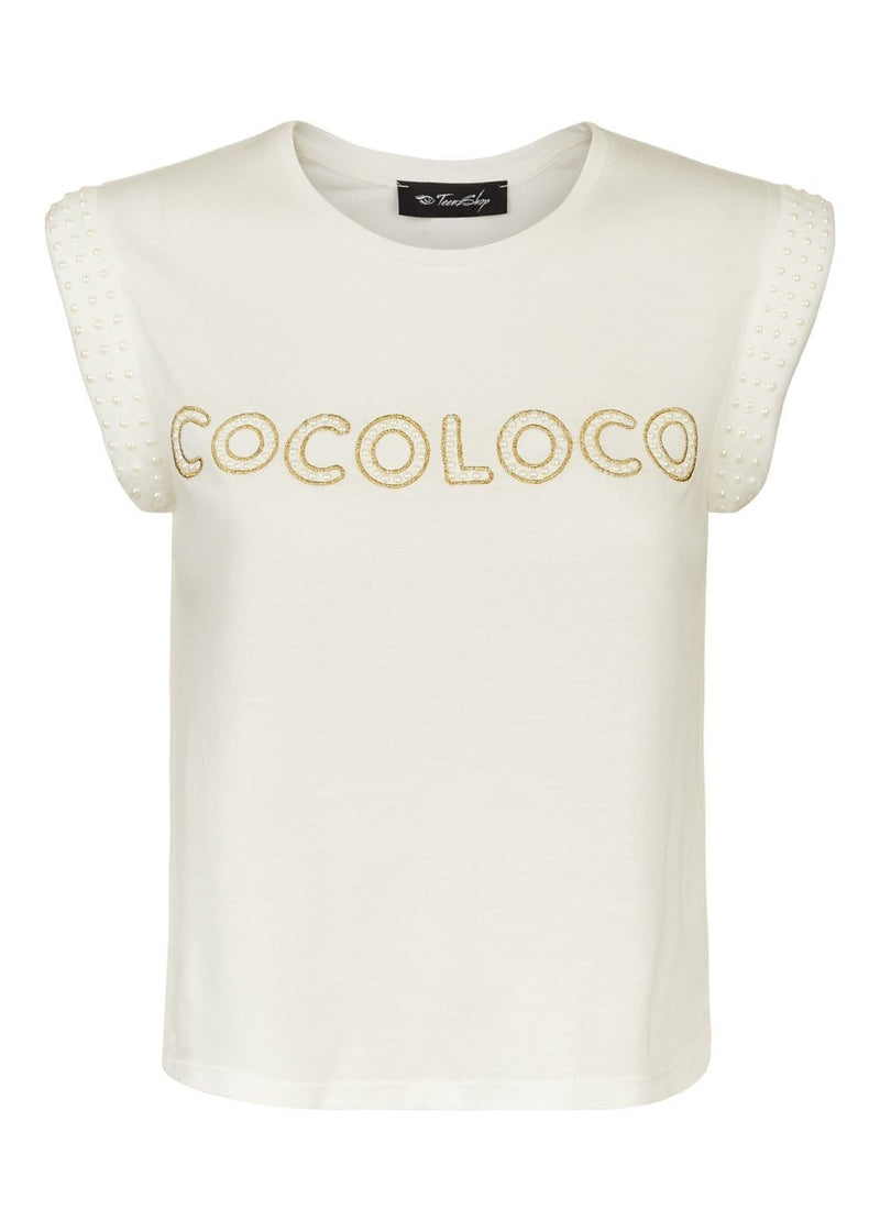 Youth Girls White Cocoloco Slogan T-shirt