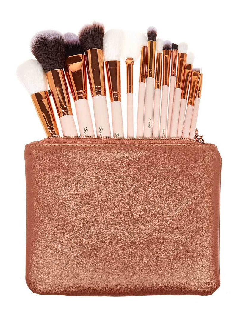 Teenzshop Luxury Rose Gold Make-up Brush Set and Bag