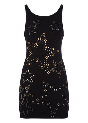 TeenzShop Youth Girls Racer Bodycon Dress with Embellishments