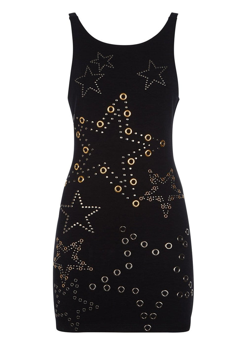 Youth Girls Racer Bodycon Dress with Embellishments