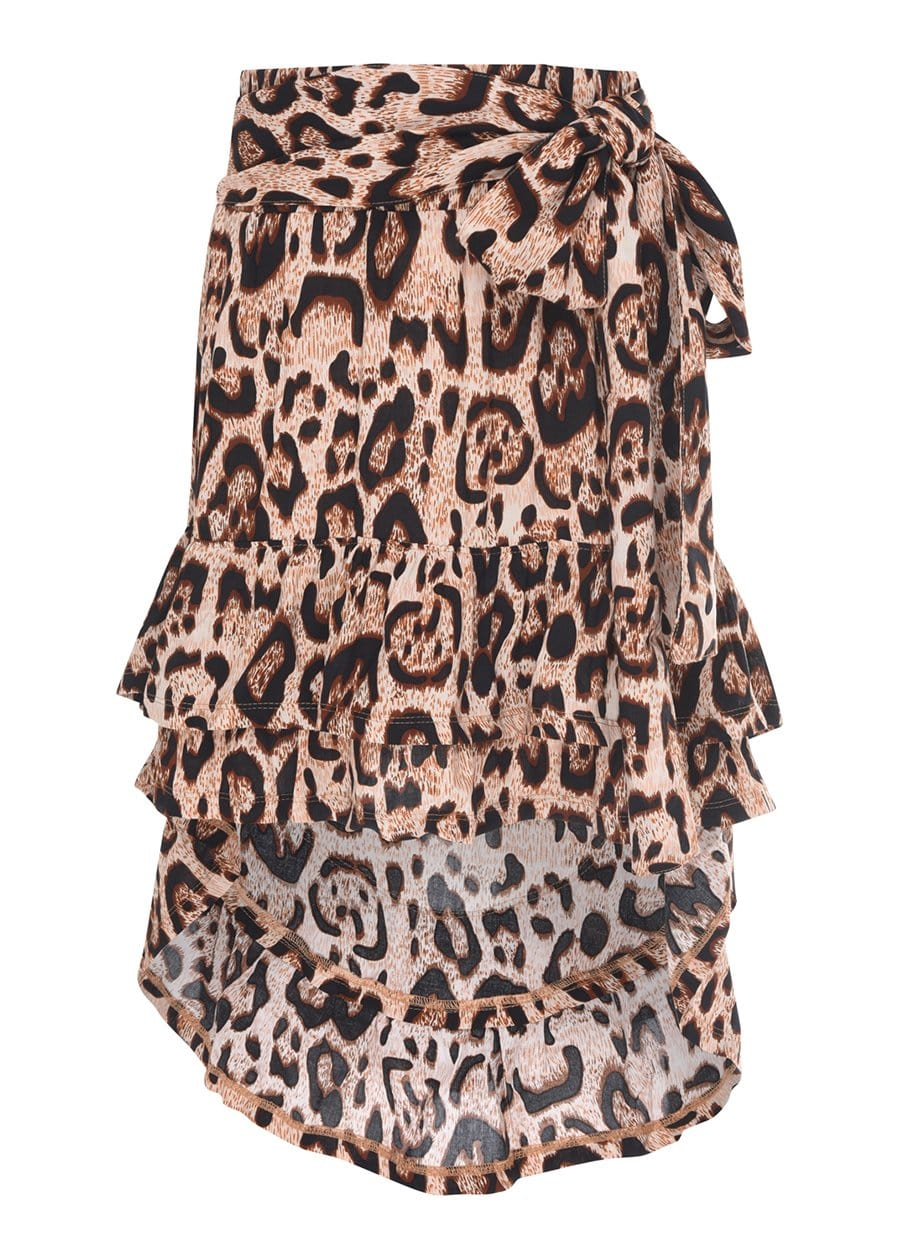 TeenzShop Youth Girls Leopard Print Ra Ra Skirt-SUSTAINABLE FABRIC