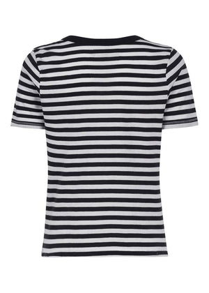 TeenzShop Youth Girls Black & White Stripe Holiday T-shirt