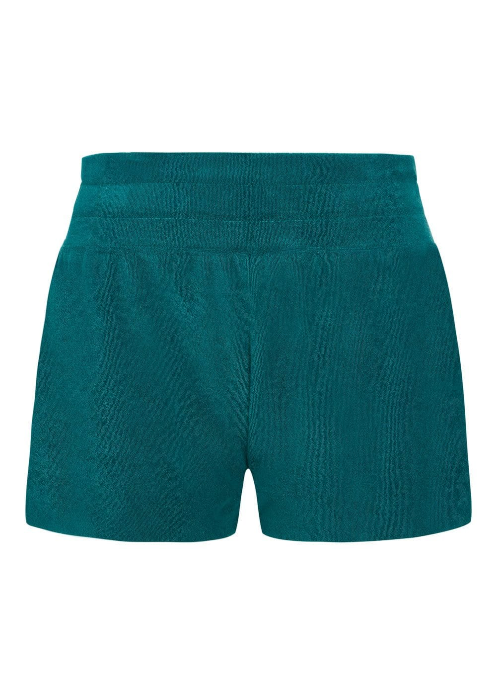 Girls Teal Terry Shorts - Front
