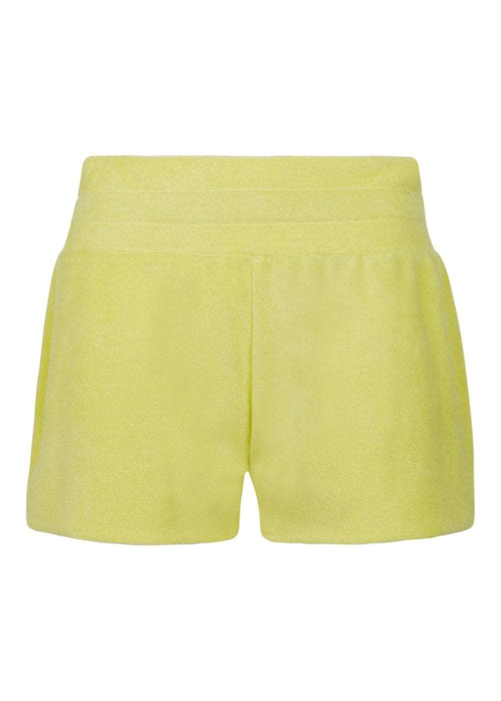Girls Yellow Terry Shorts - Front