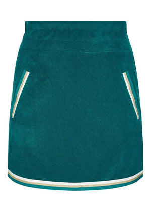 Girls Teal Retro Terry Skirt-TeenzShop