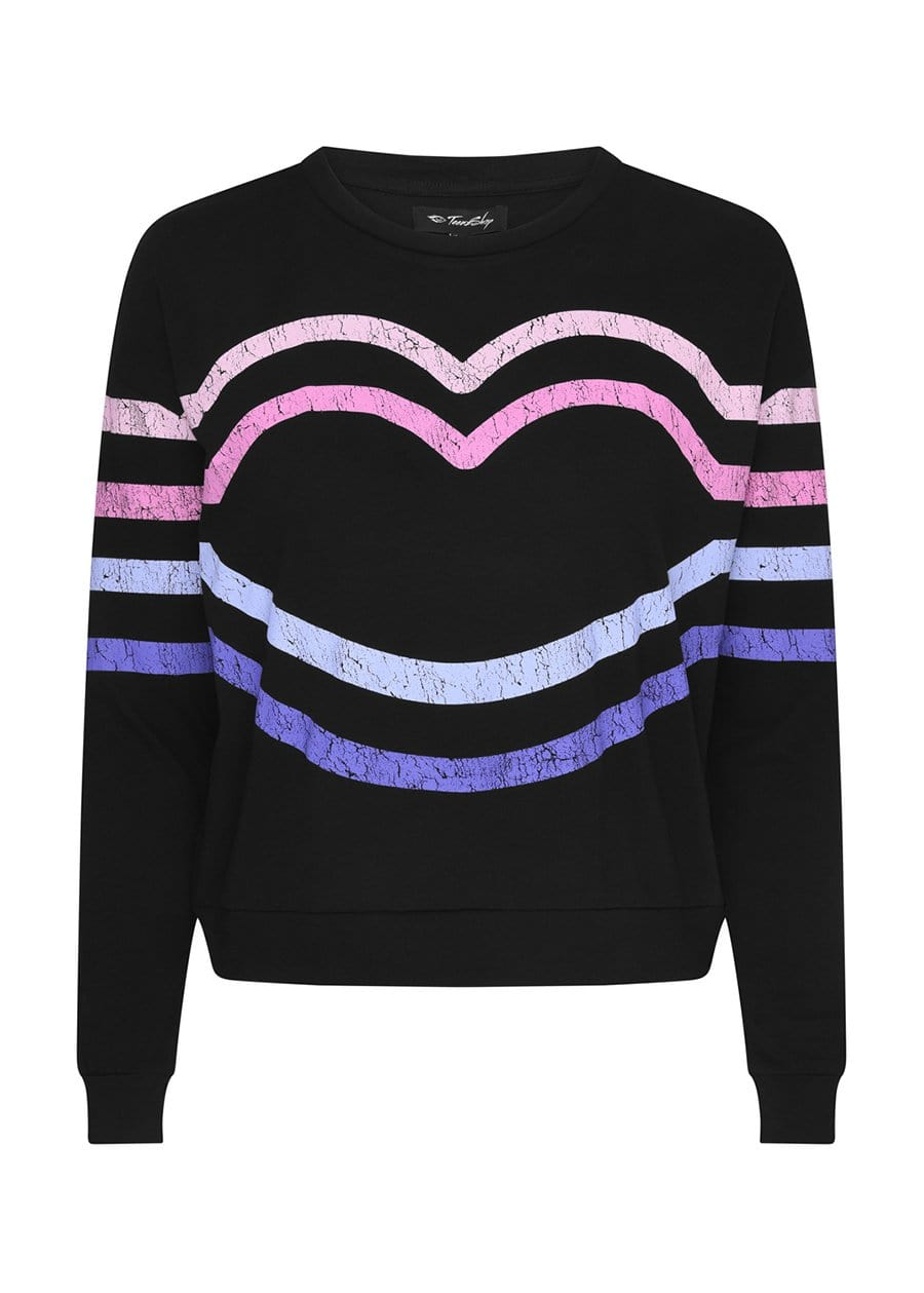 Youth Girls Candy Stripe Light Sweatshirt