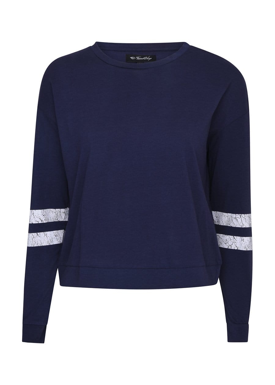 Youth Girls Vintage Navy Sweatshirt