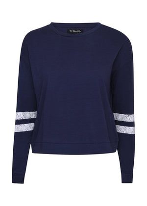 TeenzShop Youth Girls Vintage Navy Sweatshirt