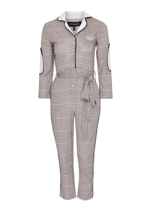 TeenzShop Youth Girls Beige WORKWOMAN Boilersuit With Contrast Stripe