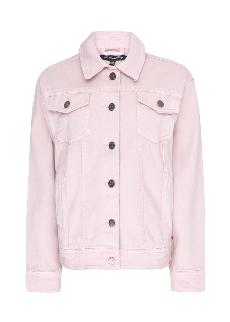 TeenzShop Youth Girls Pink Denim Jacket