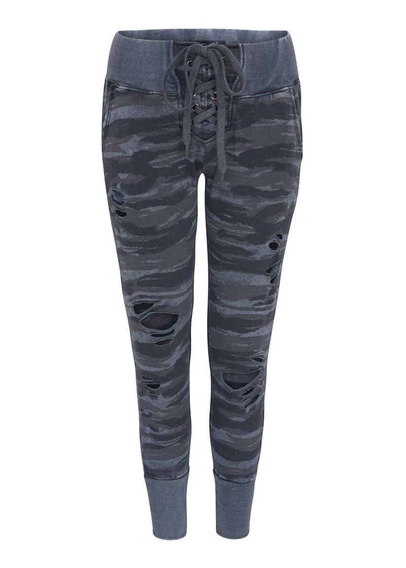 TeenzShop Youth Girls Lace-up ripped Joggers