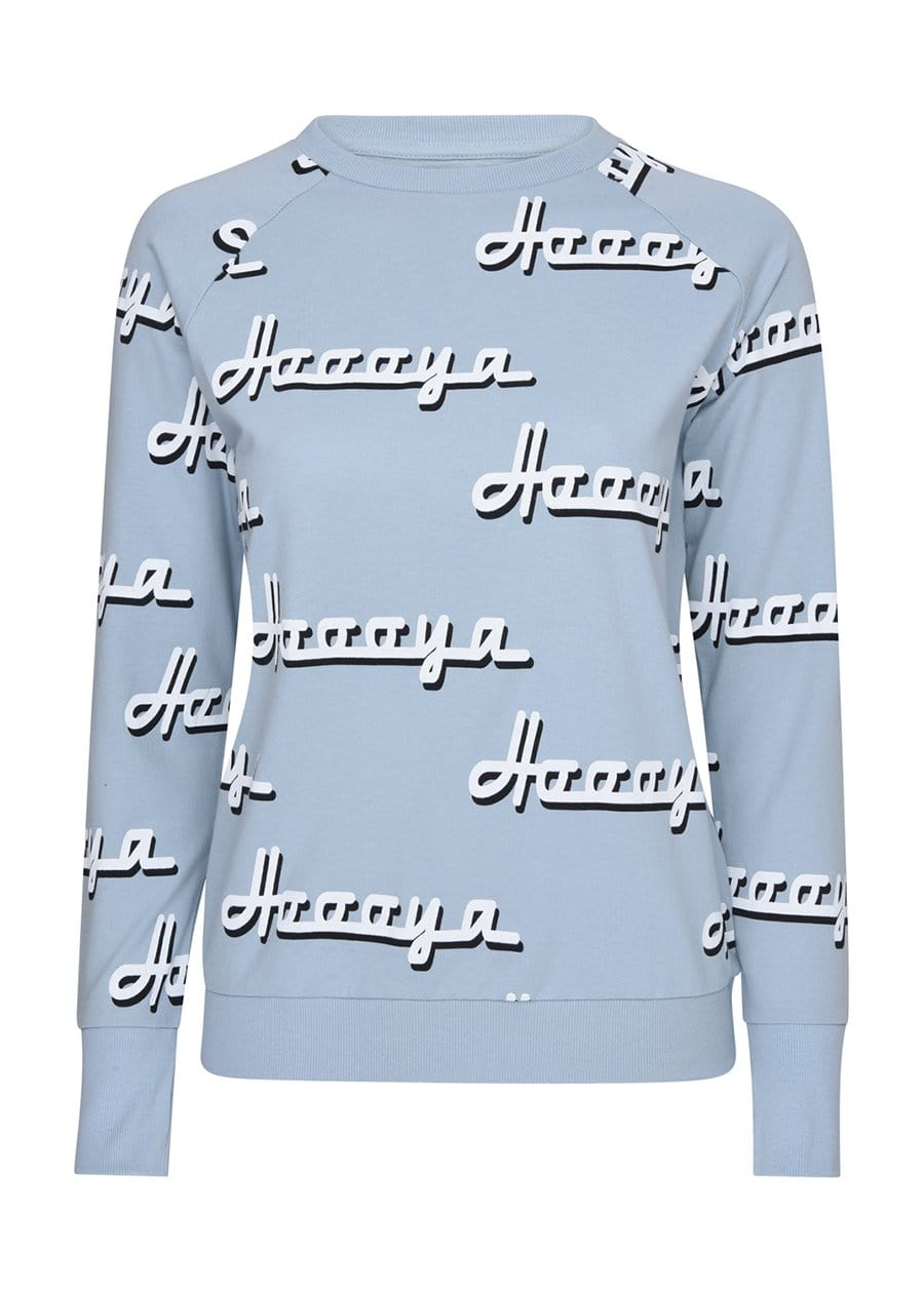 Youth Girls Blue & White Hoooya Light Sweatshirt Front