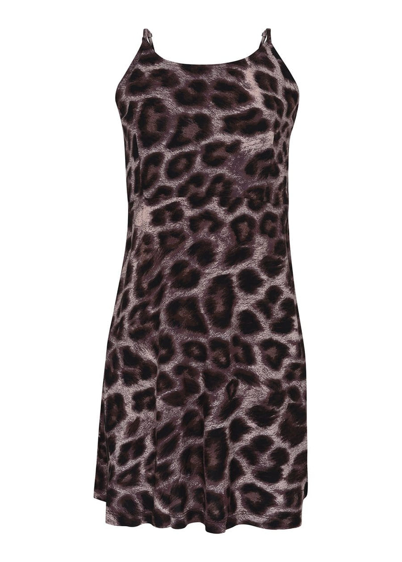 Youth Girls Leopard Print Clueless Dress Model Front