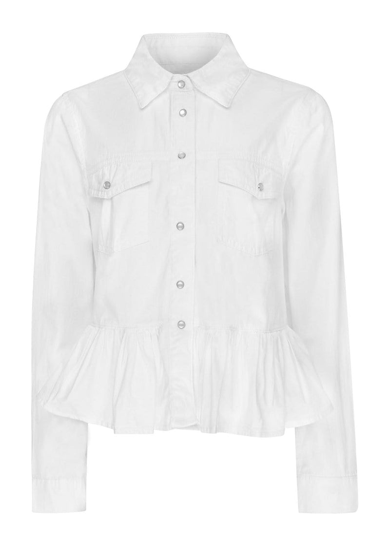 TeenzShop Youth Girls Peplum Shirt With Poppers